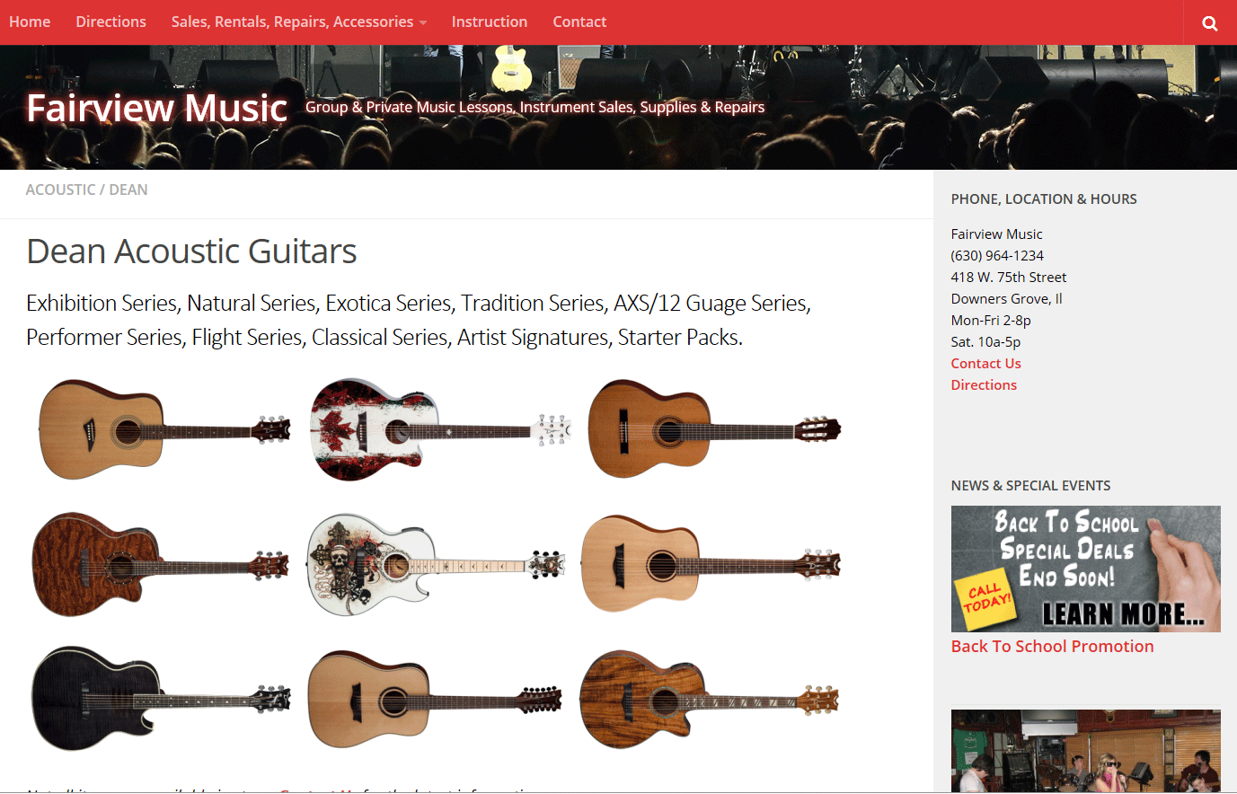 Fairview Music Website