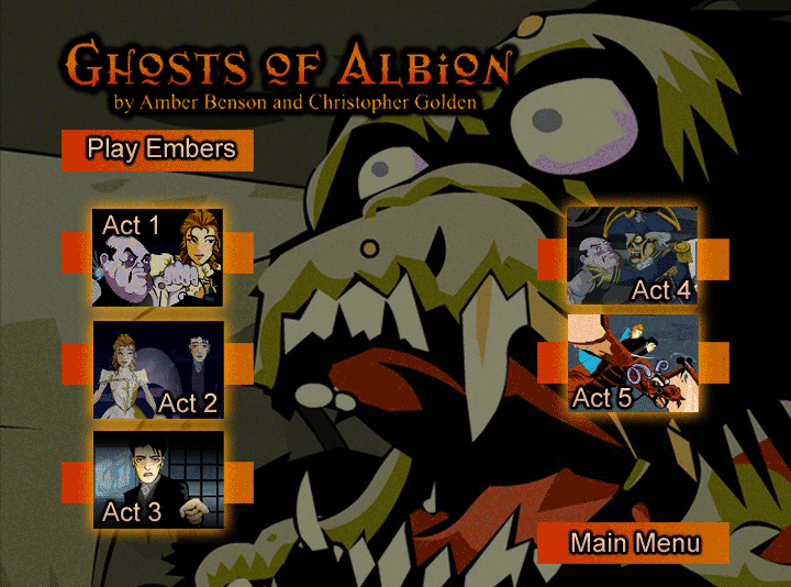 Ghosts of Albion DVD Menu